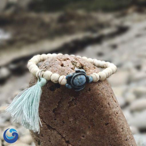 Sea turtle bracelet with tassel