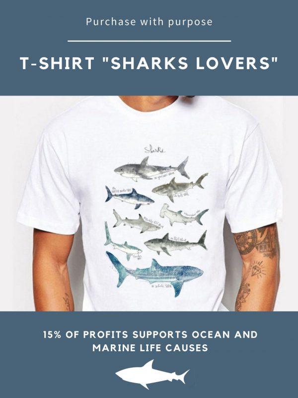 tshirt shark lovers