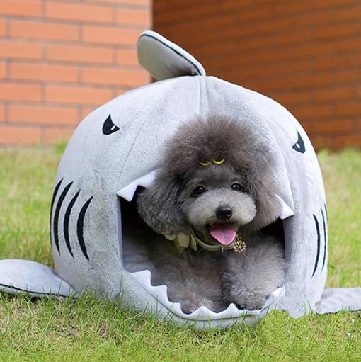 shark dog house bed
