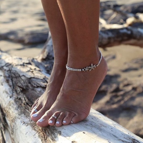 Beach anklet with starfish