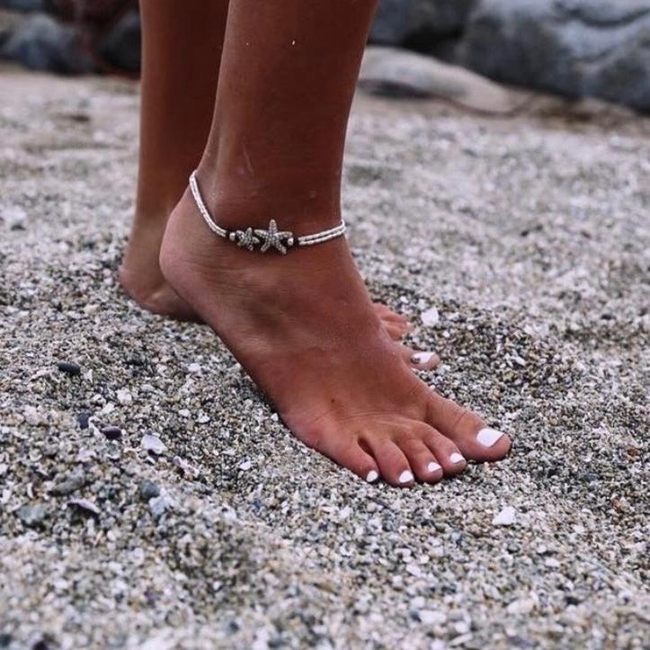 62ea01c5766cfb beach anklet starfish silver ocean. boho anklet starfish silver