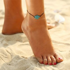 save sea turtle anklet