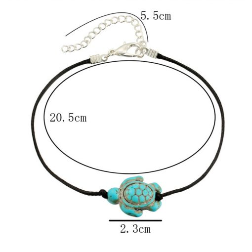 sea turtle anklet beach