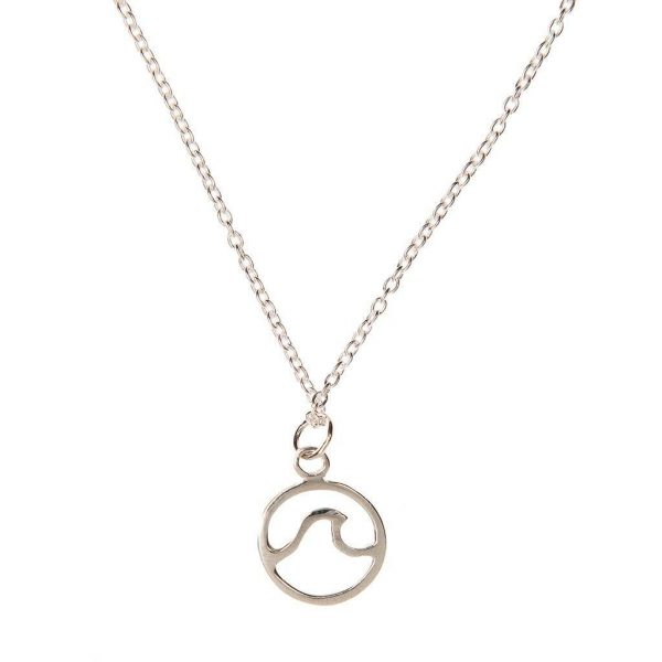 silver wave necklace for surfer