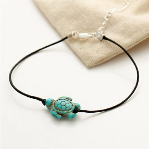 summer sea turtle anklet