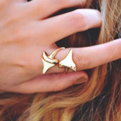 shark tooth ring gold