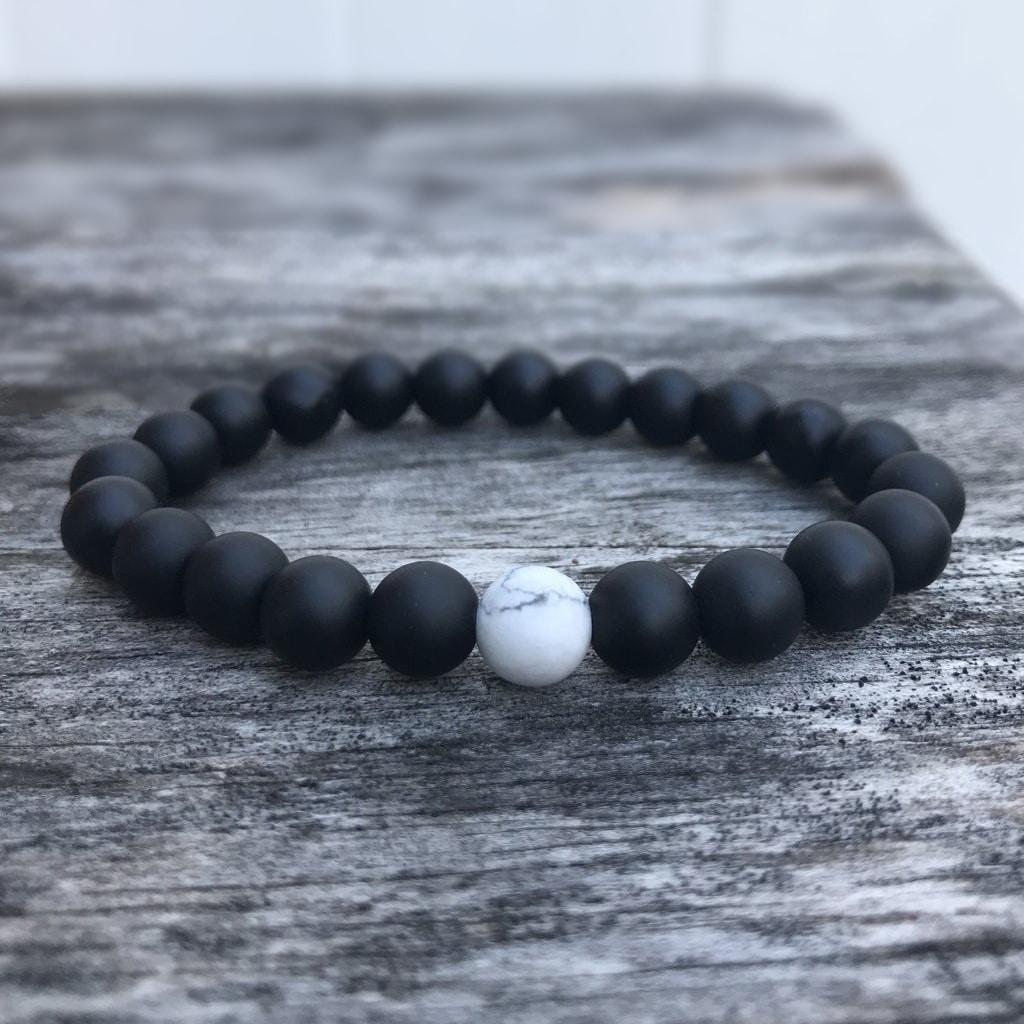 beaded orca bracelet