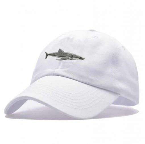 white shark cap