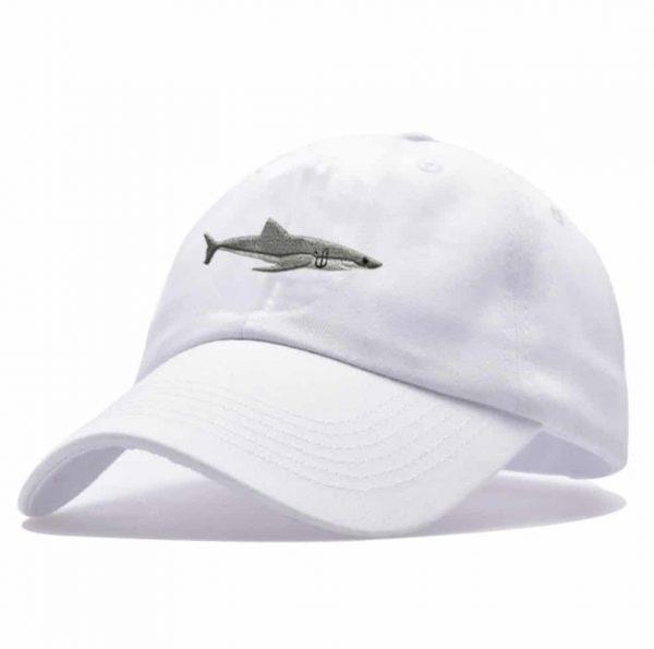 white shark cap
