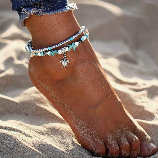 Sea turtle anklet
