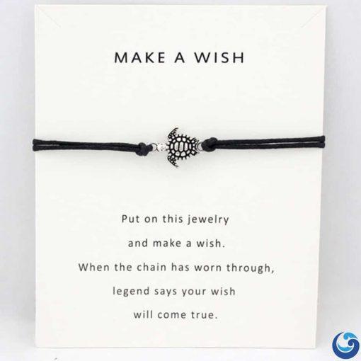 Black sea turtle bracelet