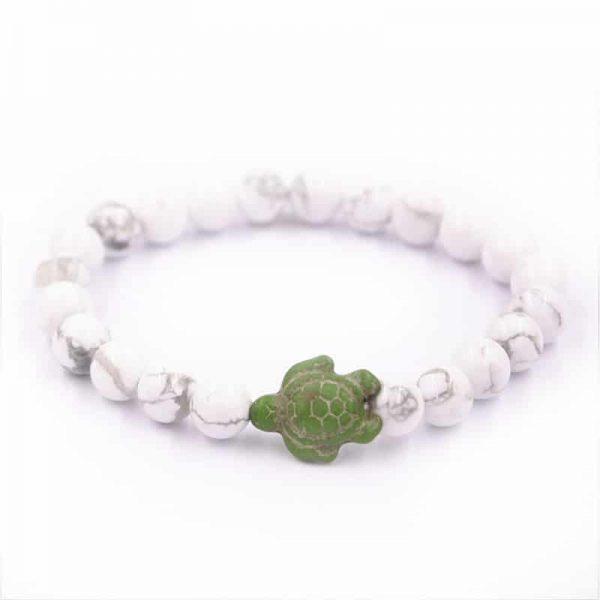 white beaded sea turtle bracelet