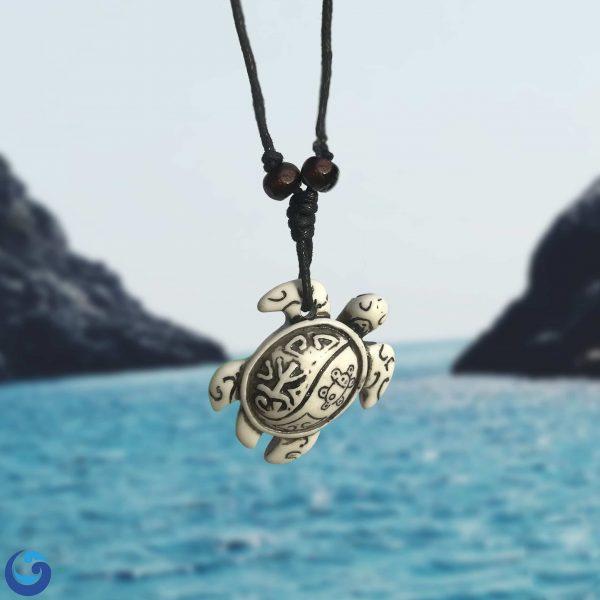Sea turtle totem necklace