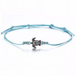 blue sea turtle anklet