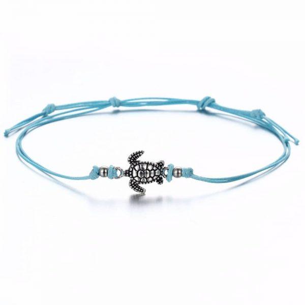 blue sea turtle anklet