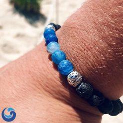 Ocean blue bead bracelet