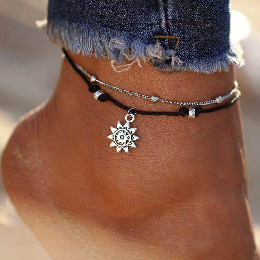 Sun summer anklet