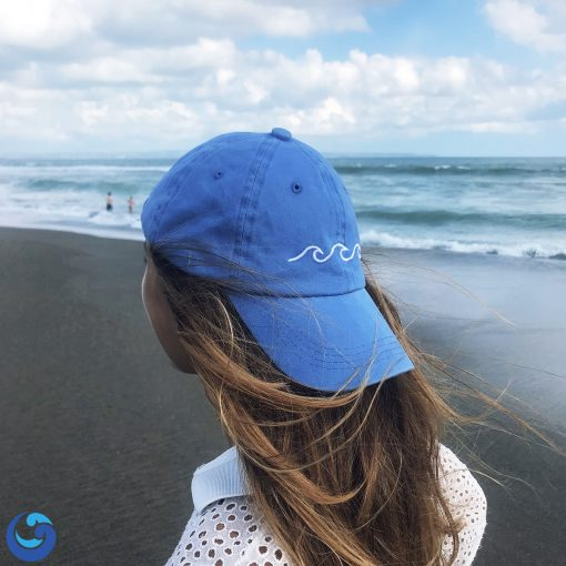 Ocean waves dad hat