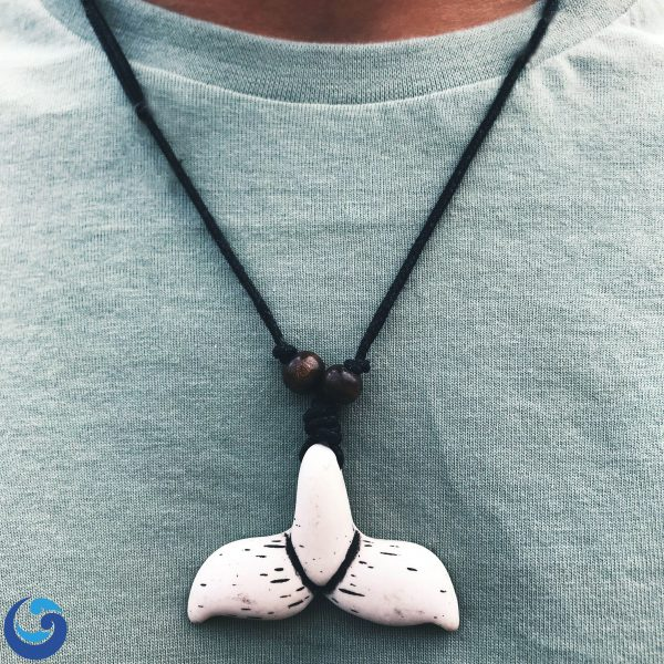Whale tail totem necklace