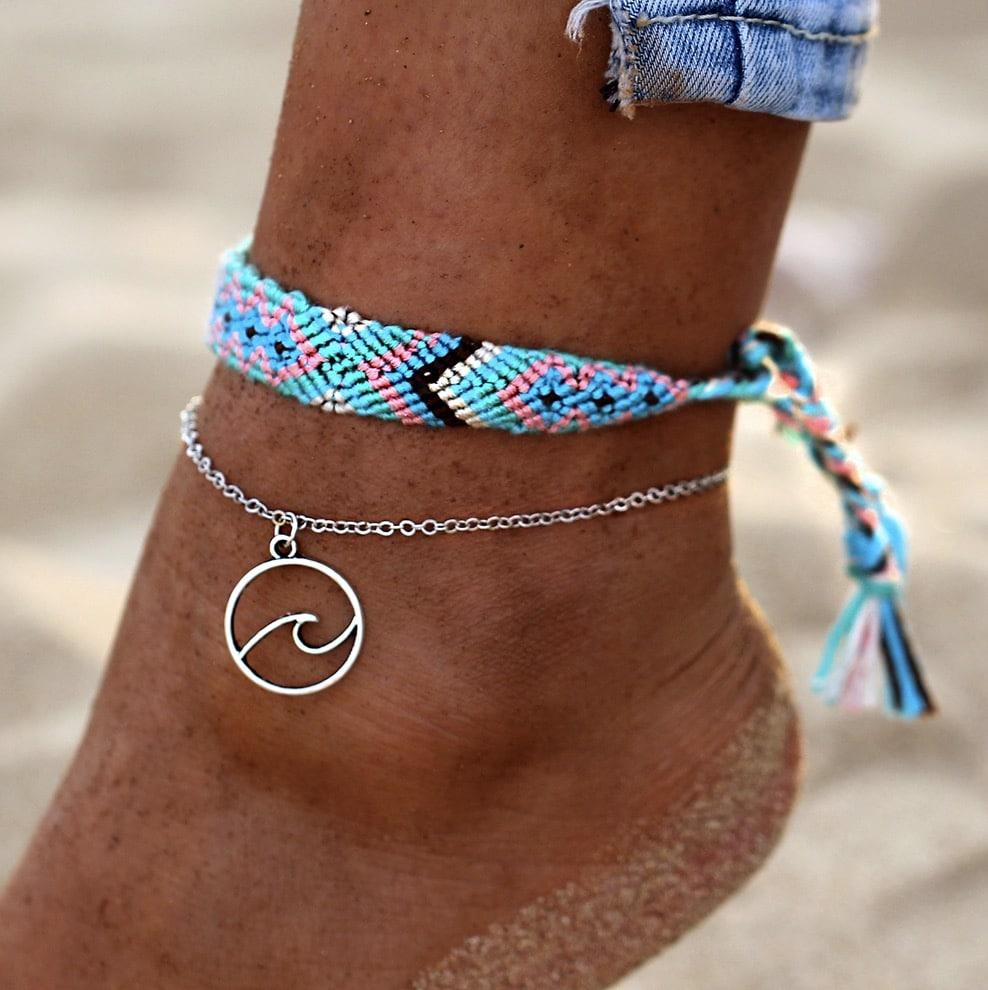 ocean bohemian anklet