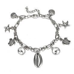 silver ocean anklet