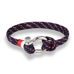 Navy blue Paracord Shackle Bracelet
