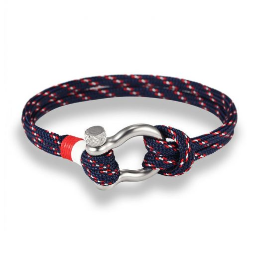 Navy blue Paracord Shackle Bracelet
