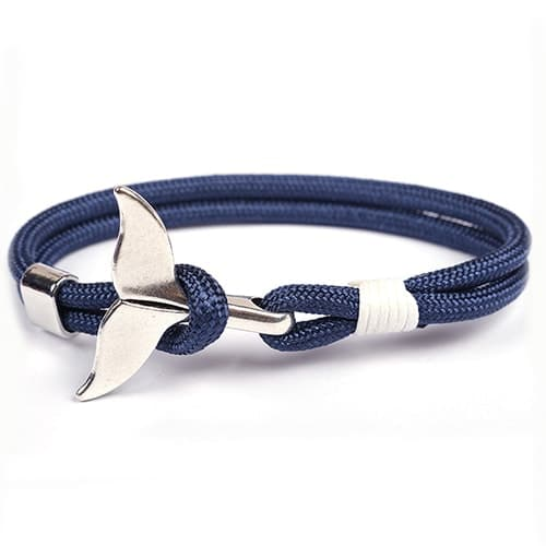 navy blue Save the whales bracelet