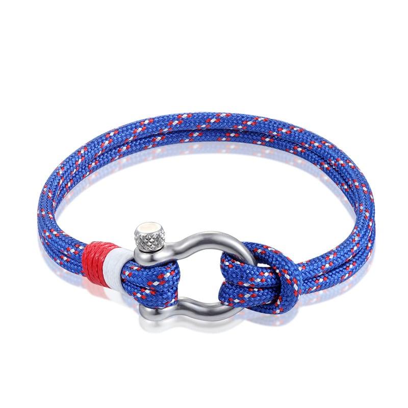 Blue Paracord Shackle Bracelet
