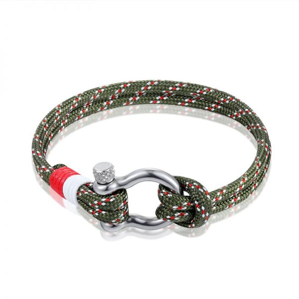 Khaki Paracord Shackle Bracelet