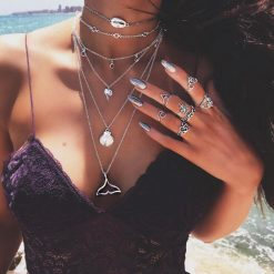 Beach layered necklace