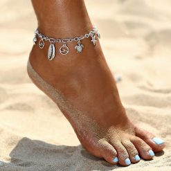 ocean charms anklet