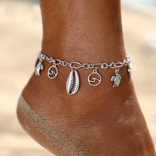 Caurie silver anklet