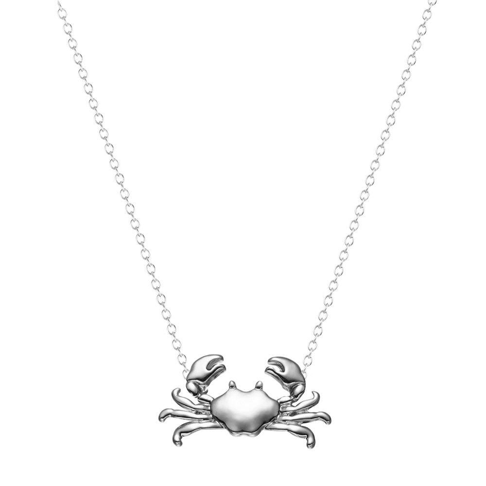Silver Crab Necklace