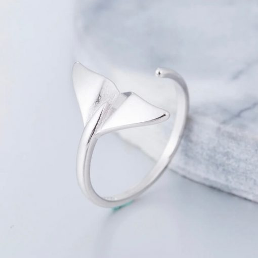 Sterling Silver Whale Tail Ring