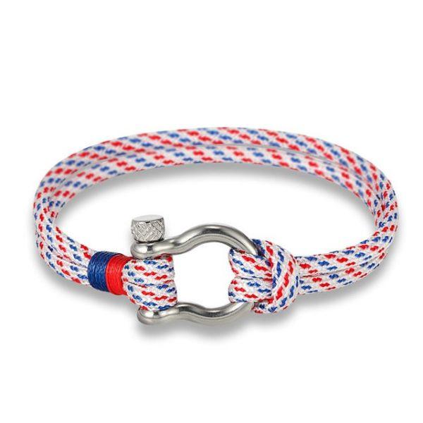 White Paracord Shackle Bracelet