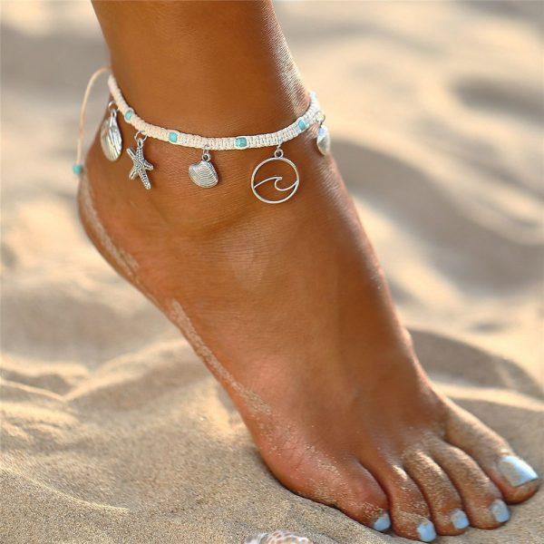 Ocean rope anklet