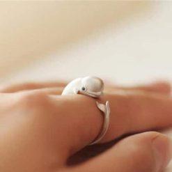 silver beluga ring