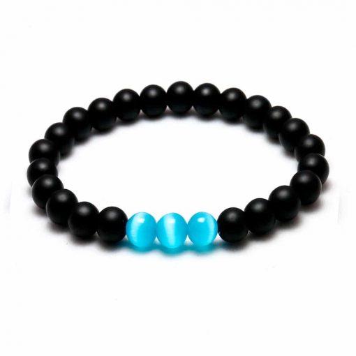 Black Ocean bead bracelet