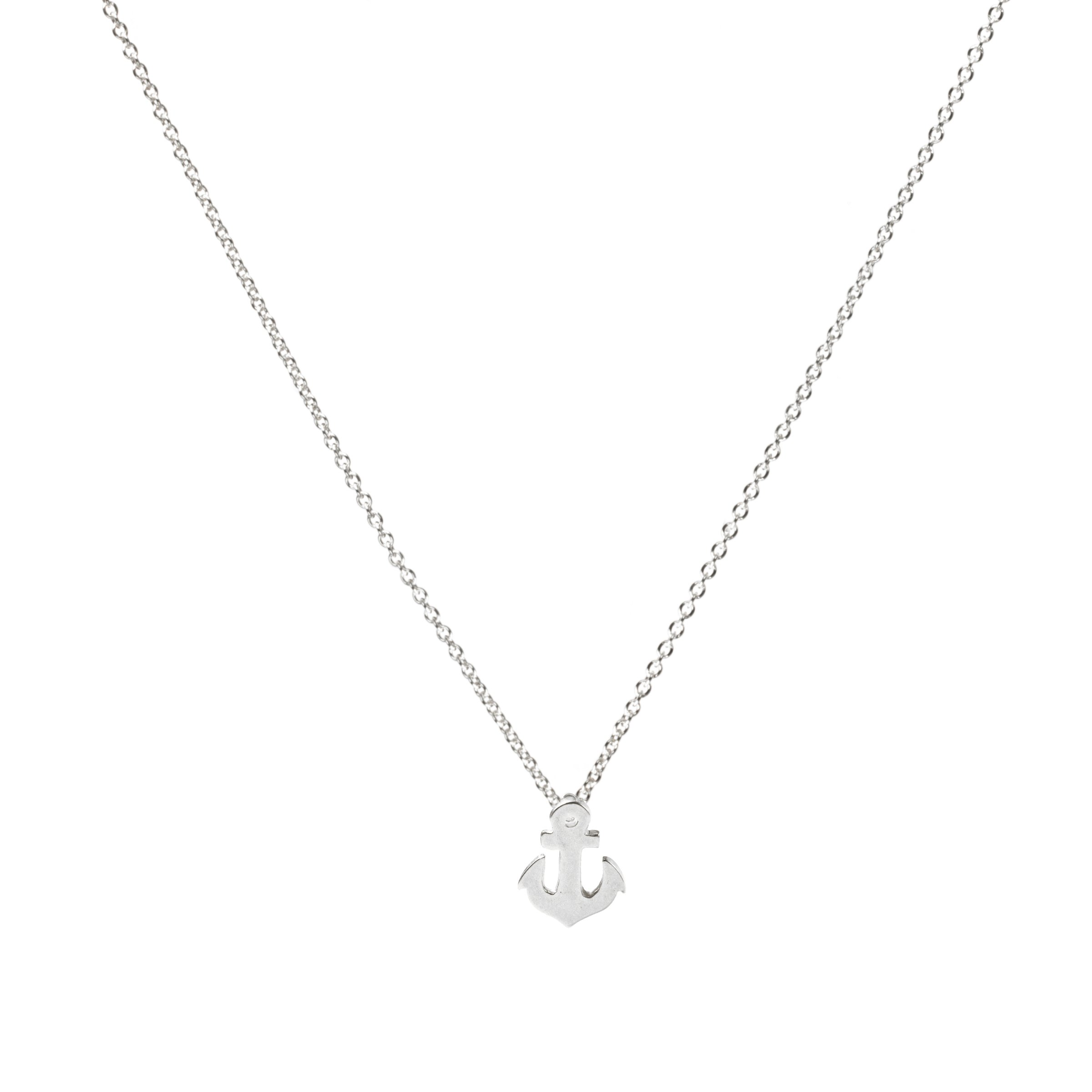 Silver Friendship Anchor Necklace