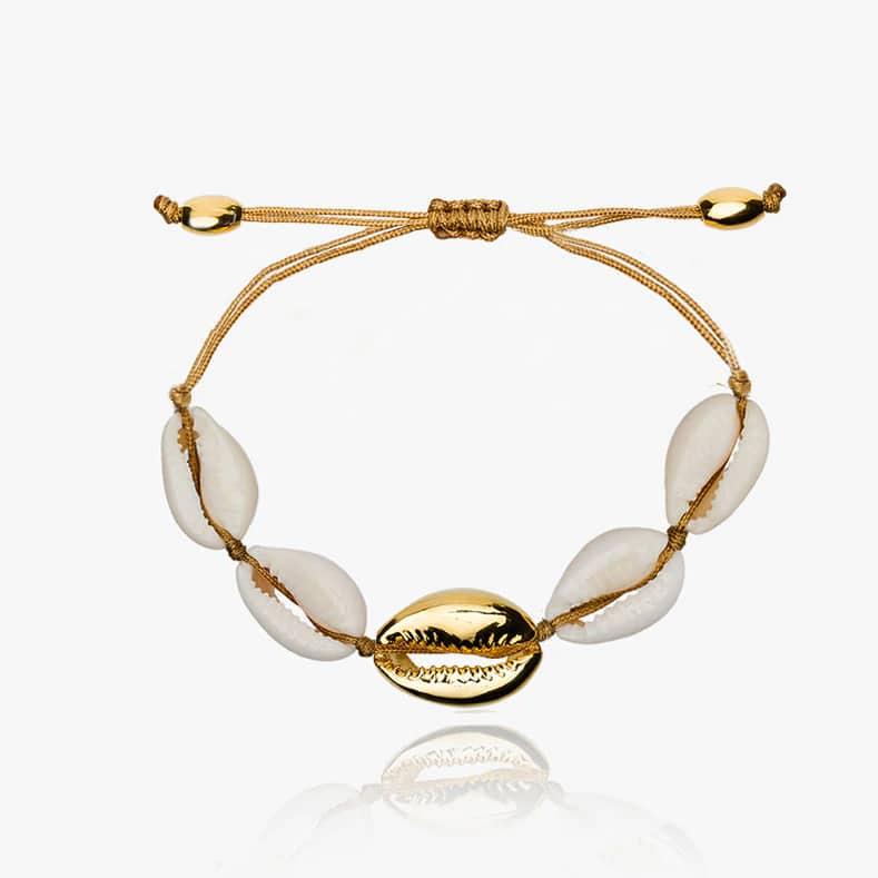 Gold cowrie bracelet