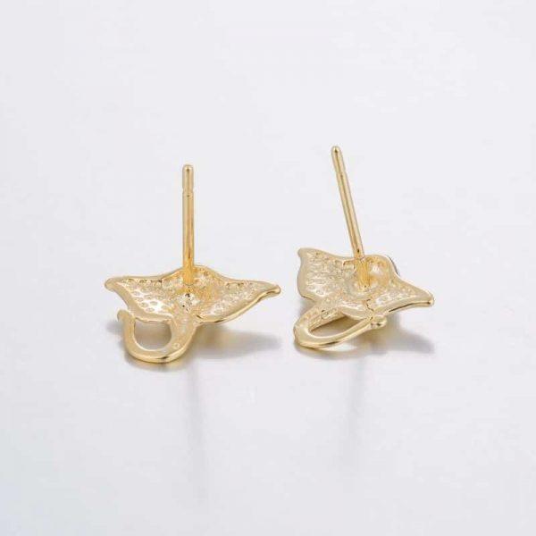 manta ray earrings studs