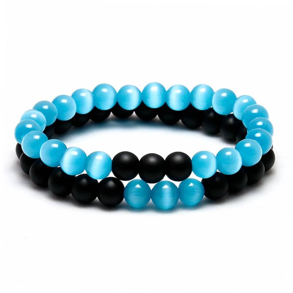 Ocean Bead Bracelet Blue