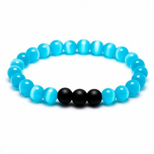 blue ocean bead bracelet