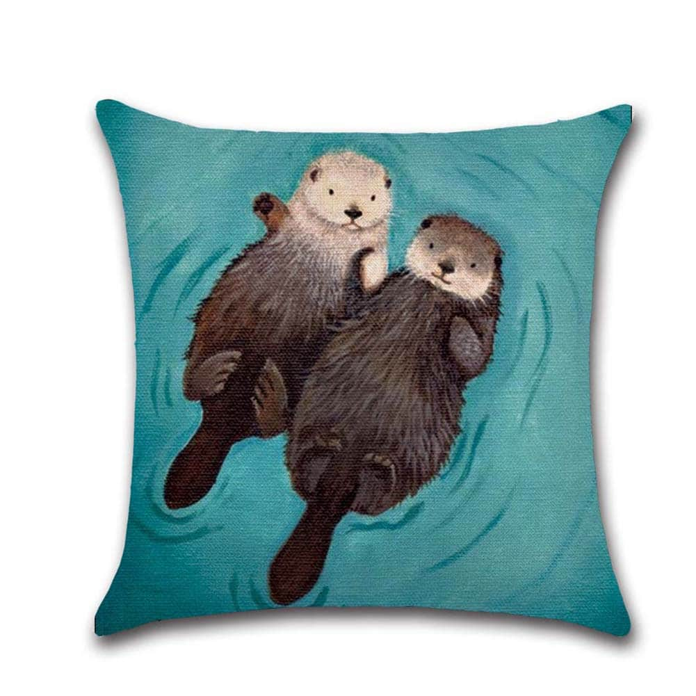 Otter cushion cover
