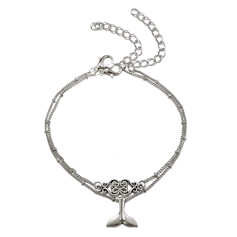 Whale tail anklet