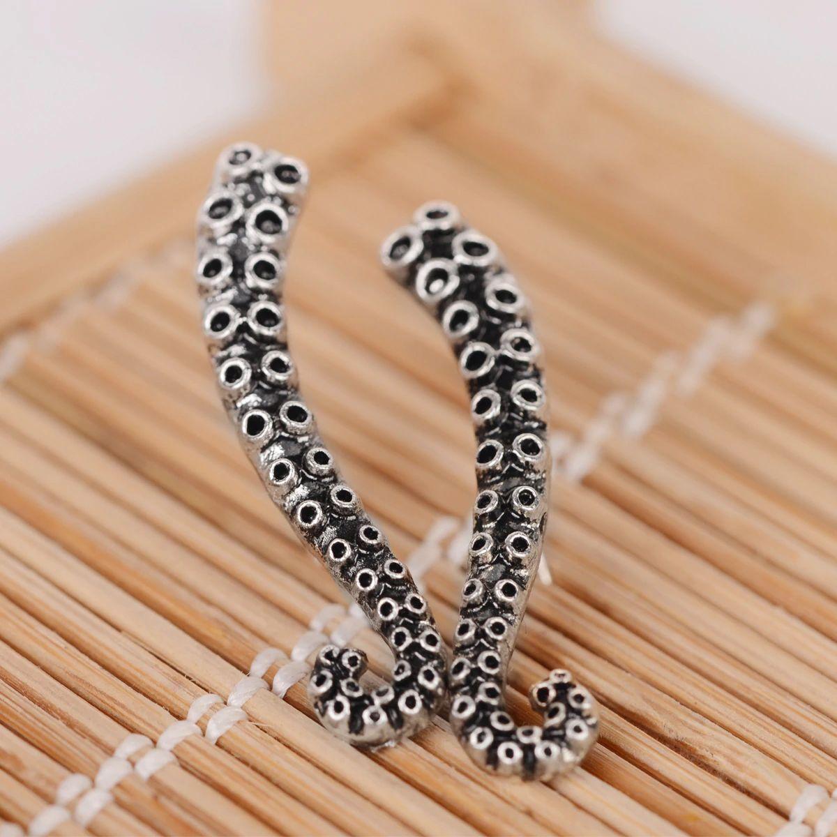 Octopus tentacles earrings