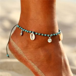 Turquoise Bead anklet