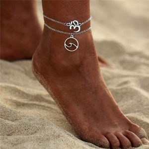 Wave anklet
