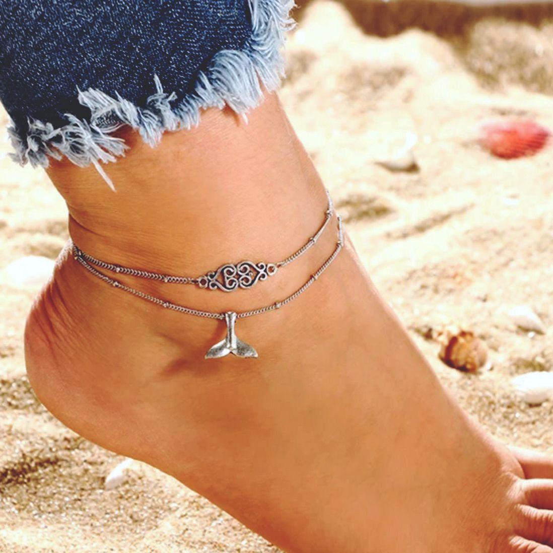 WHALE Tail Ankle bracelet